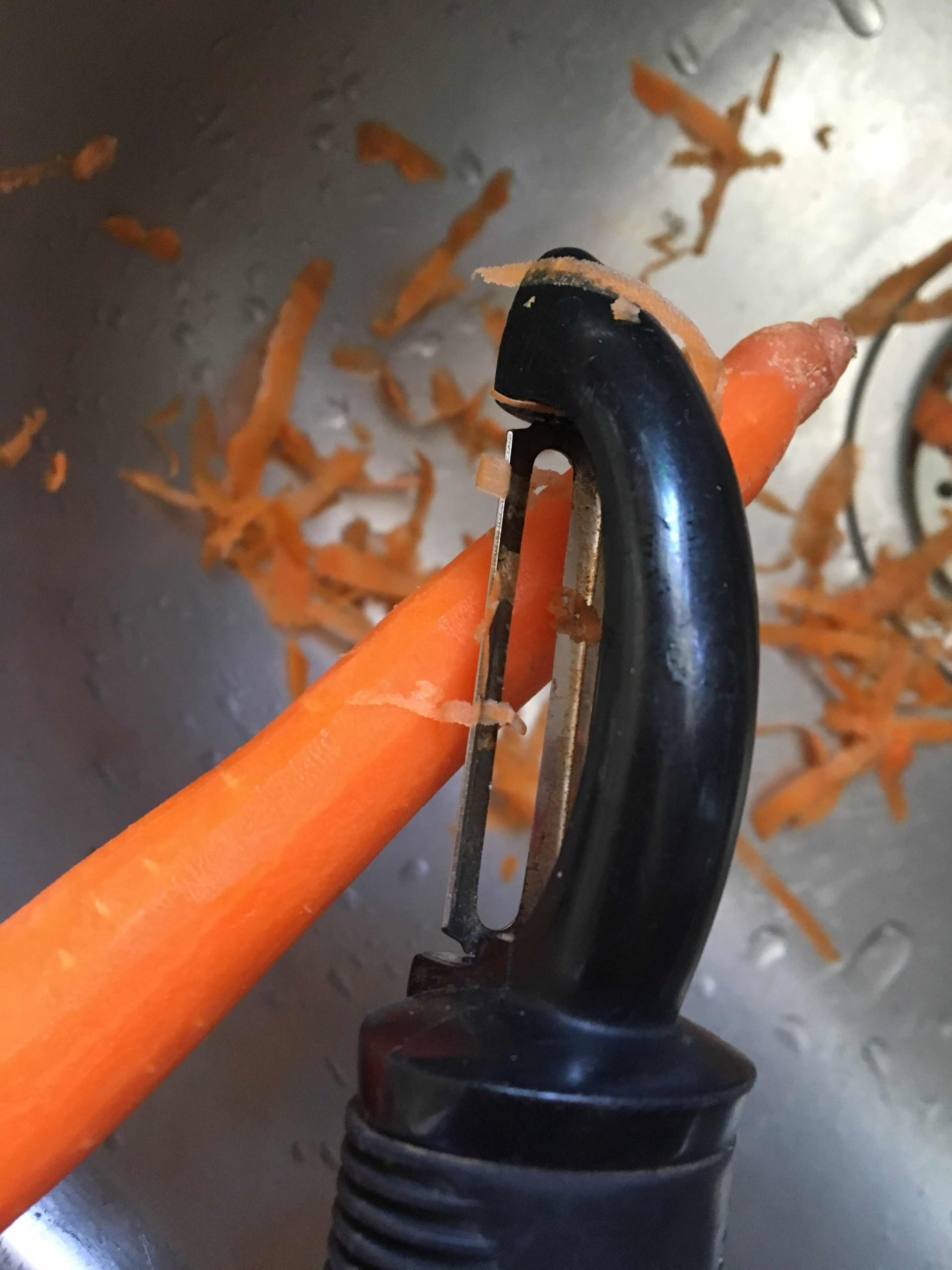 A Lesson in Peeling Carrots