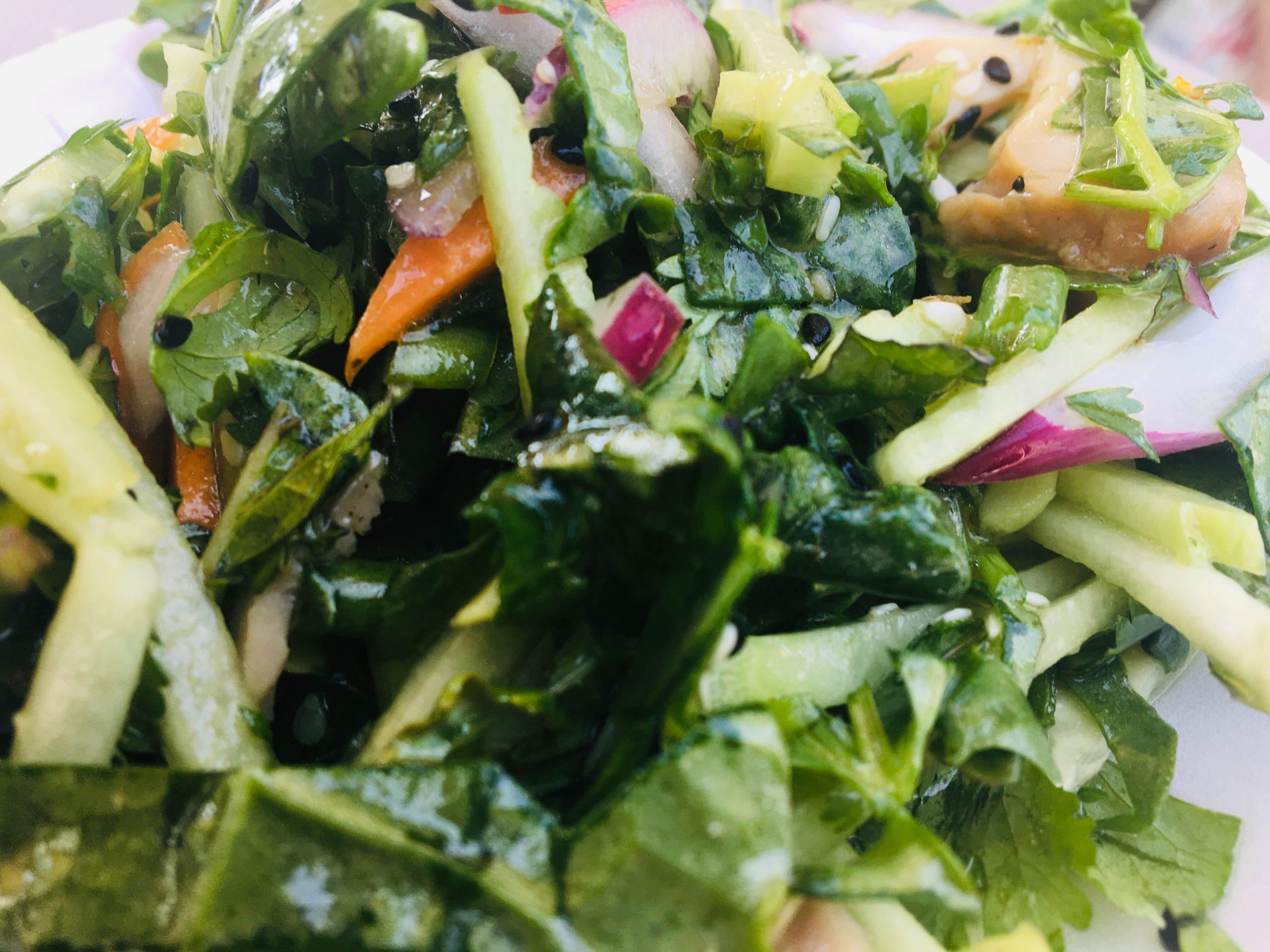 Asian Kale & Herb Salad